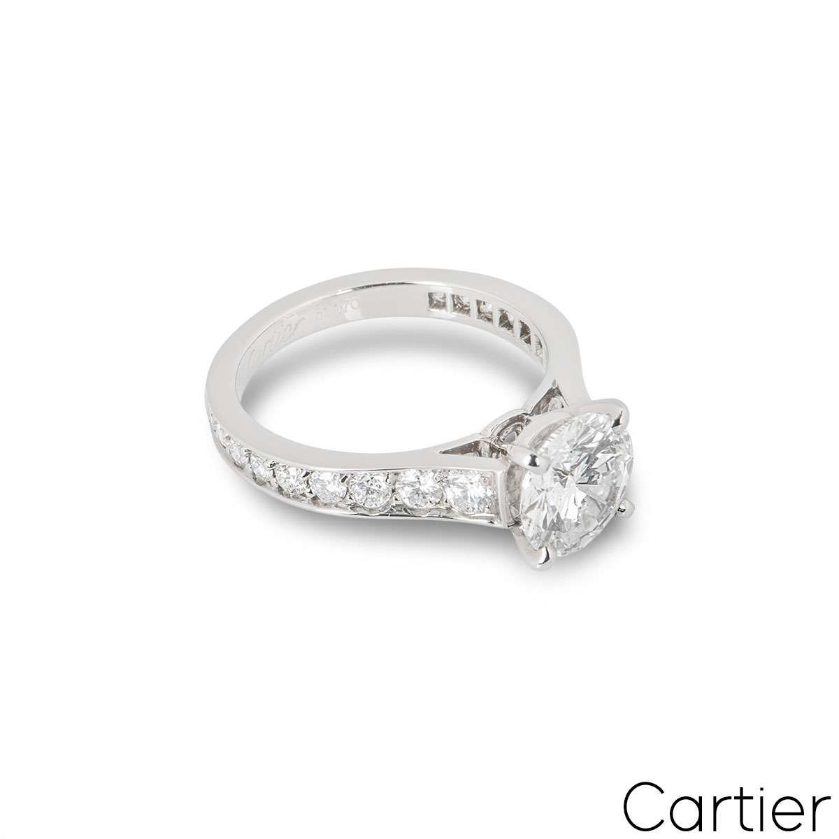Cartier Solitaire 1895 Diamond Ring 1.70ct G/VVS1
